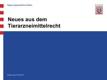 Neues aus dem Tierarzneimittelrecht - LTK Hessen