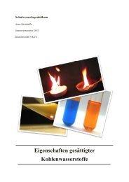 Eigenschaften gesättigter Kohlenwasserstoffe