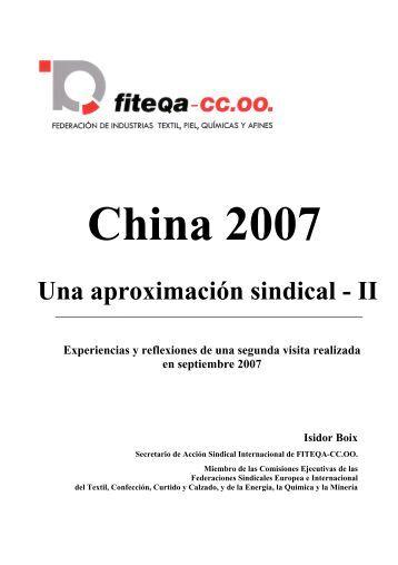 China 2006 – Una aproximación sindical