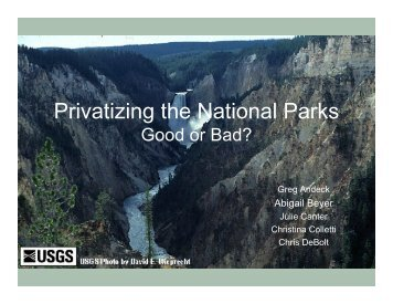 Privatizing the National Parks