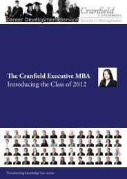 The Cranfield Executive MBA - Cranfield School of Management ...