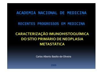 """Imuno - Histoquímica"" em pdf. - Academia Nacional de Medicina"
