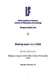 Monika Milewska Religious Aspects of the 20th Century Personality ...
