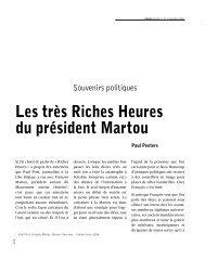 Les très Riches Heures du président Martou - Couleur livres