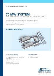70 MW SYSTEM - teamtechnik  Maschinen und Anlagen GmbH