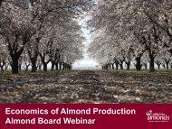 Economics of Almond Production Almond Board Webinar