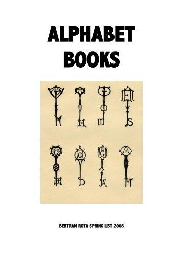 alphabet book - Bertram Rota Booksellers