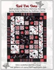 Red Hot Dots pattern - Hoffman California Fabrics