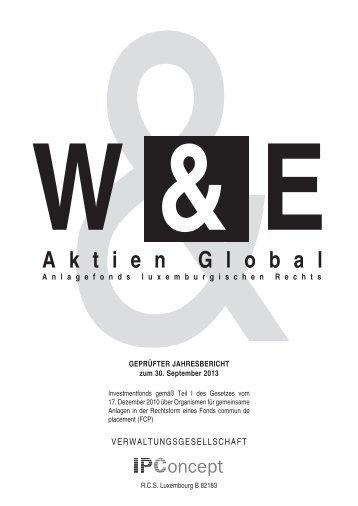 Jahresbericht zum 30.9.2013 - Weiler Eberhardt Depotverwaltung AG
