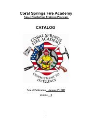 Table of Contents - Coral Springs Fire Academy