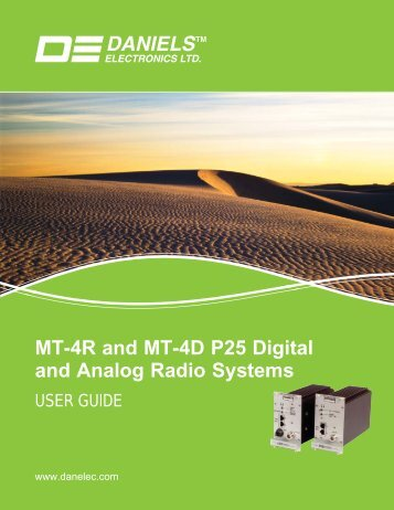 UG-001-3-0-0 MT-4R and MT-4D User Guide.indd - Daniels ...