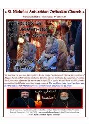 Bulletin November 3 2013 - Saint Nicholas Antiochian Orthodox ...