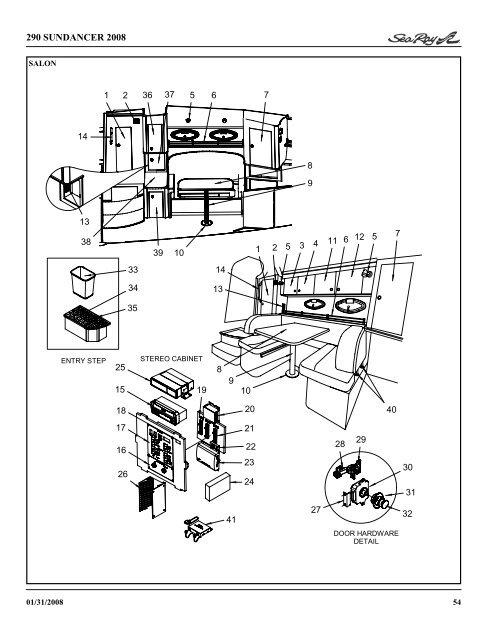 Sea Ray Parts  Sea Ray Bowrider Wiring Diagram on
