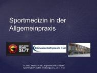 Martin Schär - Sportmedizin in der Allgemeinpraxis - Medifuture