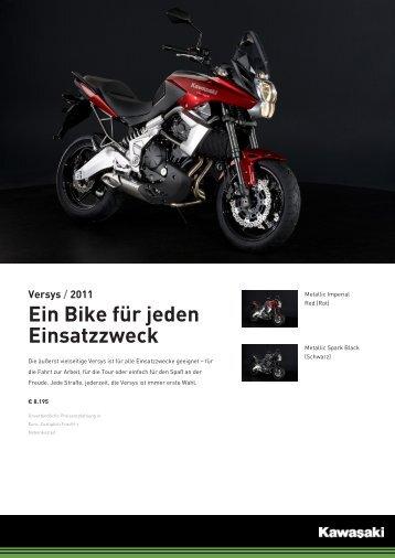 Versys / 2011 Ein Bike für jeden Einsatzzweck