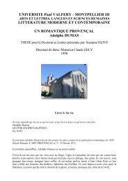 UNIVERSITE Paul VALFERY - MONTPELLIER III ... - Aix-Marseille I
