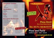 Pizza und Pasta Pizza Devil - pizzadevil.de