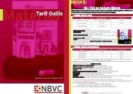 Voir Tarifs & Outils - NBVC