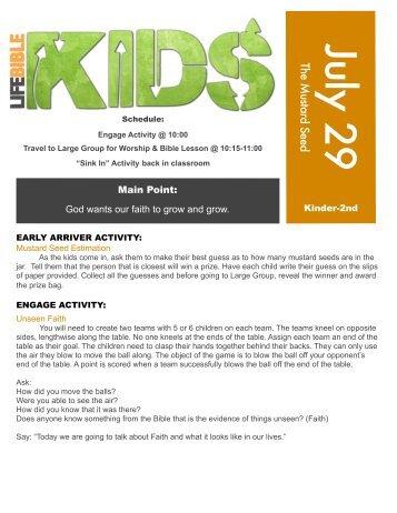 K-2 July 29 - Life Bible Kids