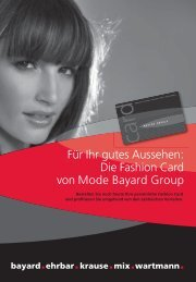 Antragsformular Kundenkarte - modebayard.ch
