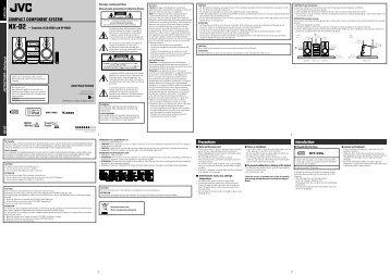 Product Manual - JVC