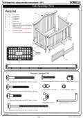 Napa 4 in1 Crib Assembly Instruction - Hayneedle - Page 3