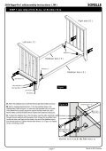 Napa 4 in1 Crib Assembly Instruction - Hayneedle - Page 4