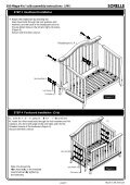 Napa 4 in1 Crib Assembly Instruction - Hayneedle - Page 6