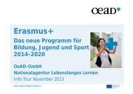 Präsentation Erasmus+ - Nationalagentur Lebenslanges Lernen