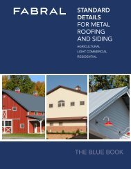 STANDARD DETAILS FOR METAL ROOFING AND SIDING ... - Fabral