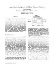 Approximate Analysis of Real-Time Database Systems - CiteSeerX