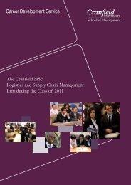 Career Development Service -  Cranfield School of Management