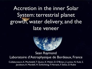 Accretion in the inner Solar System: terrestrial planet growth ... - asiaa