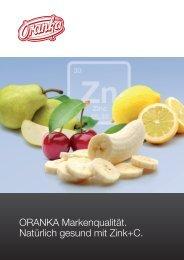 ORANKA. Zink+C Erfrischungsgetränke. - Wolfgang Jobmann GmbH