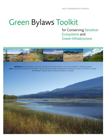 Green Bylaws Toolkit for Conserving Sensitive Ecosystems
