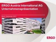 Zur Unternehmenspräsentation - ERGO Austria International AG