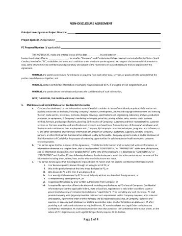 MorningstarS NonDisclosure Agreement