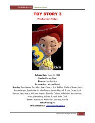 TOY STORY 3 - Visual Hollywood