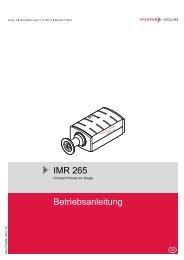 IMR 265 Betriebsanleitung