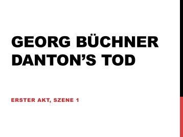 GEORG BÜCHNER DANTON'S TOD