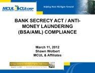 bank secrecy act / anti- money laundering (bsa/aml) compliance