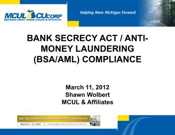 bank secrecy act / anti- money laundering (bsa/aml) compliance