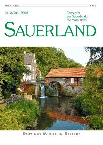 Umbruch_1_2008:Sauerland Zeitschrift - Sauerländer Heimatbund ...