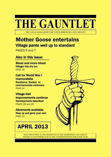 The Gauntlet - April 2013 - Kings Somborne - Village Website