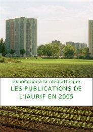 LES PUBLICATIONS DE L'IAURIF EN 2005