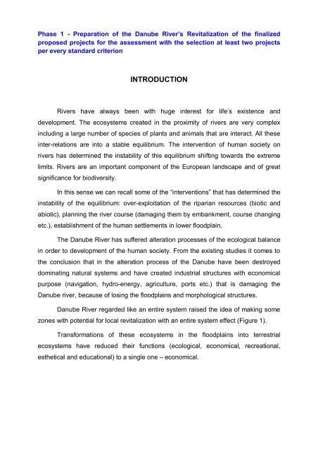 Danube Rivers Morphology and Revitalization - DANUBEPARKS