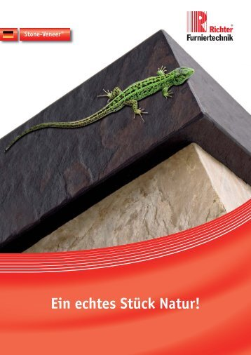 Ein echtes Stück Natur! - Richter-Furniertechnik GmbH & Co KG