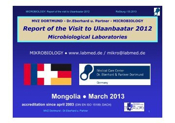 Report of the visit to Microbiological laboratories, Ulaanbaatar, 2012