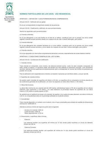normas particulares de los usos - Ayuntamiento de Vitoria-Gasteiz