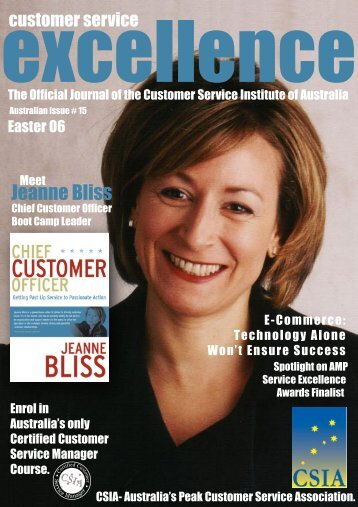 Issue 15 - Customer Service Institute of Australia